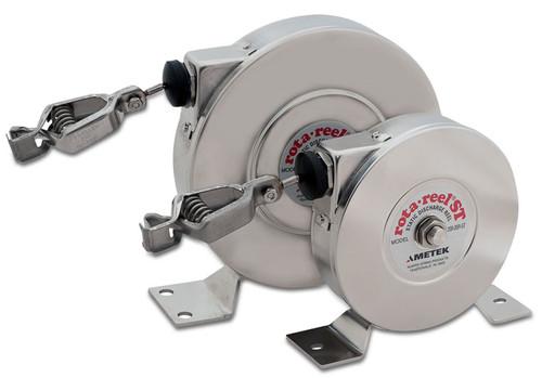 AMETEK Hunter Spring Products Stainless Steel Rota-Reel Static Grounding/Bonding Reels w/ Hytrel Coated Galvanized Cable