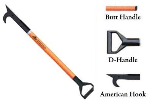 Leatherhead Tools 8 ft. Dog-Bone American Hook w/Butt Handle - Orange