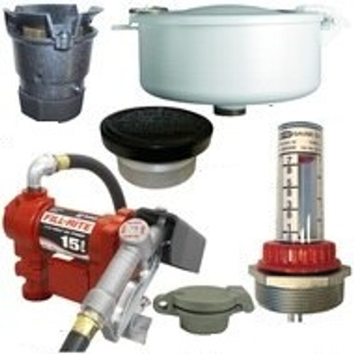 15 GPM Pump & Gas Vent Kit For 1000 Gal. x 48 in. Single Wall Skid Tank w/ E-Vents