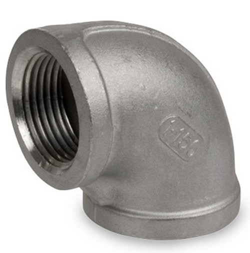 Smith Cooper Cast 150# Stainless Steel 1 1/2in. 90° Elbow Fitting - Threaded