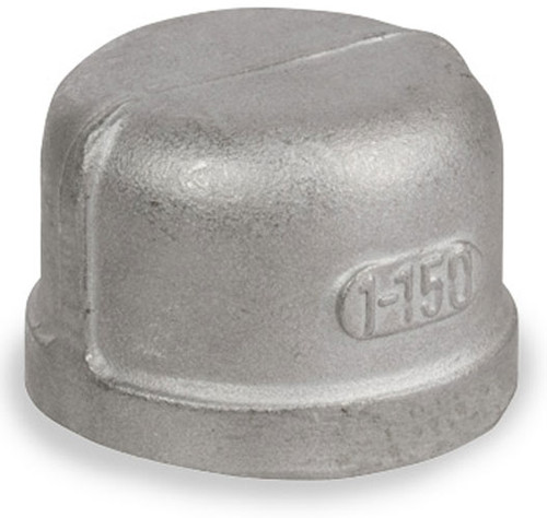 Smith Cooper Cast 150# Stainless Steel 3 in. Cap Fitting - Threaded