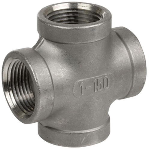 Smith Cooper Cast 150# Stainless Steel 3/8 in. Cross Fitting - Threaded
