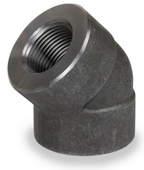 Smith Cooper 3000# Forged Carbon Steel 1 1/2 in. 45° Elbow Pipe Fitting - Threaded