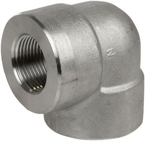 Smith Cooper 3000# Forged 316 Stainless Steel 1 1/2 in. 90° Elbow Fitting - Threaded