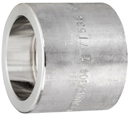 Smith Cooper 3000# Forged 316 Stainless Steel 1/4 in. Full Coupling Fitting - Socket Weld