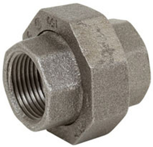 Smith Cooper 150# Black Malleable Iron 3 in  Union Pipe Fittings - Threaded