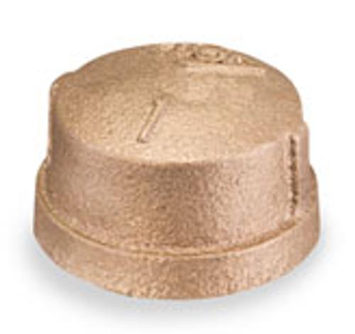 Smith Cooper Bronze 1 1/4 in. Cap Fitting - Threaded