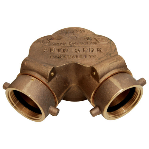 Dixon  2-1/2 in. NH (NST) x 6 in. NPT Auto Sprinkler Double Clapper Siamese Connection Bottom Outlet