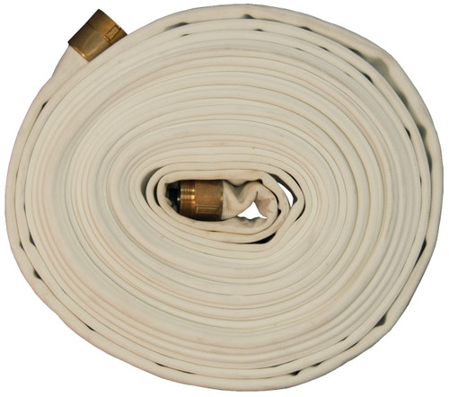Dixon 1 1/2 in. 500# Rack Hose with NH(NST) Brass Combo Lug  Ends