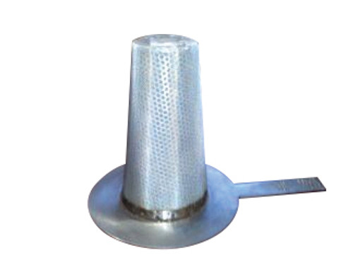 CDR 6 in. Carbon Steel Temporary Basket Strainer w/ Perf and Mesh