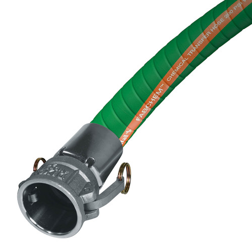 Continental ContiTech Fabchem 3 in. 200 PSI Chemical Transfer Hose w/ Stainless C x C Ends