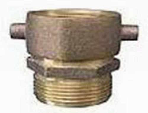 JME 2 1/2 in. FNST x 3 in. MNPT Brass Pinlug Swivel Adapters