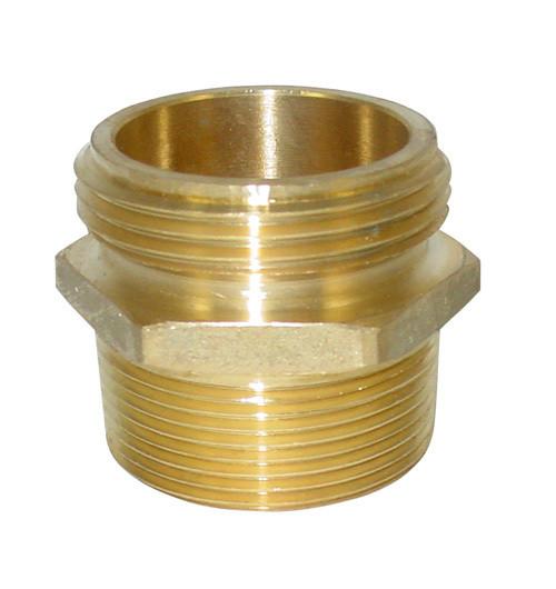 JME 2 1/2 in. NH x 2 in. NPT Brass Double Male Hex Adapters
