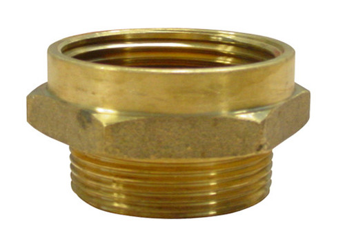 2 1/2 in. FNST x 2 1/2 in. NST Brass Hex Adapters