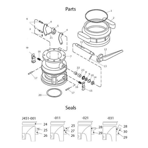 Emco Wheaton J451-031 Retaining Ring - Item # 10