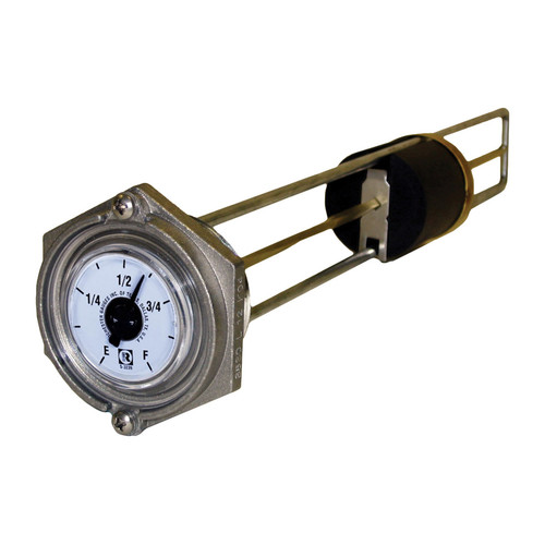 Rochester Gauges 8680 Series 1 1/2 in. Top Mounting Magnetic Liquid Level Generator Tank Gauges - Fits 10 1/2 in. Tank Depth