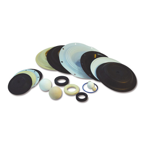 Buna-N Elastomer Repair Kits for Wilden 1 in. P2 Metallic Pumps