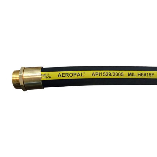 Continental ContiTech AEROPAL Type C 2 in. Regular Temp Aviation Fueling Hose Assemblies w/ Brass NPT Ends