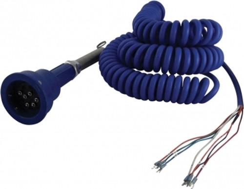 Scully Blue Optic Plug & 30 ft. Coiled Cord w/ 3 J-Slot Pins & 6 Contact Pins for Scully Systems