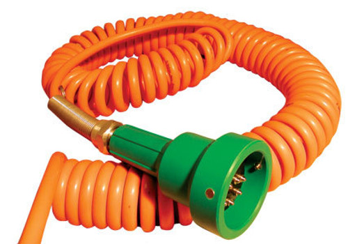 Civacon Green Thermistor Plug & Coiled Cord w/ 4 J-Slot Pins & 10 Contact Pins for Civacon or Scully® Compatible System