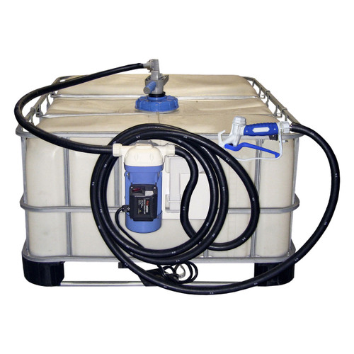 JME 12V DC Pump DEF Transfer Systems w/ RPV Coupler, Valve, & Manual Nozzle (Tote Not Included)