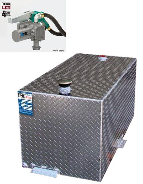 DOT Certified 110 Gallon Severe Duty Transfer Tank w/ GPI PRO 20 Pump - 20 GPM