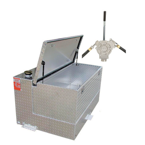 50 Gallon Transfer Tank & Tool Box Combo With GPI HP90 Pump