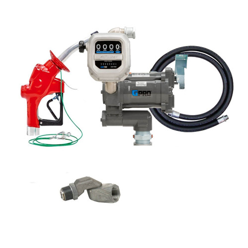 GPI GPRO 25 GPM 12V Aviation Fuel Transfer Pump Package with Meter