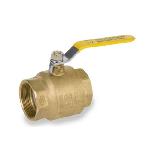 Smith Cooper 4 in. NPT Threaded Brass Ball Valve - Full Port