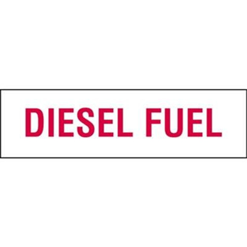Diesel Fuel Vinyl Sticker 6 in. x 21 in.