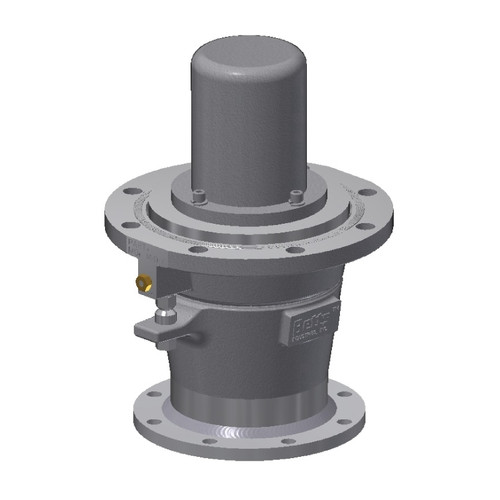 Betts 4 in. Aluminum Internal Air Emergency Valve - Straight Flanged