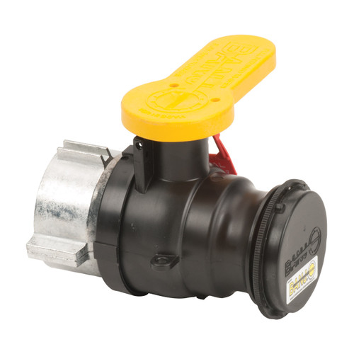 Banjo 2 in. Poly IBC Spinweld Valve for Mauser w/ Male Adapter Outlet, Cap & Foil Seal - V22283 Collar with Viton Gasket