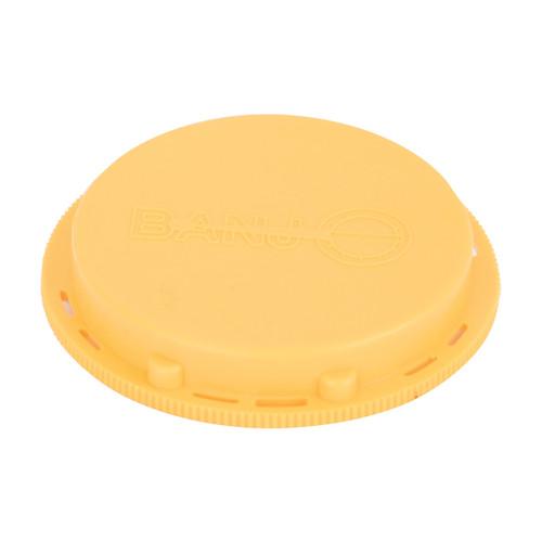 Banjo 2 in. IBC Threaded Cap - Yellow