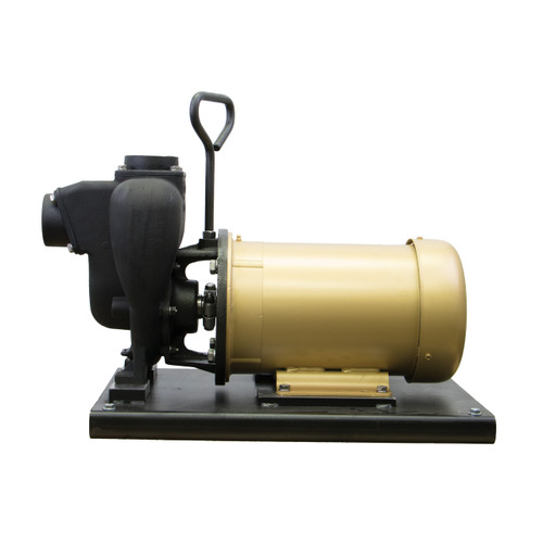 Banjo 2 in. Cast Iron Centrifugal Pump w/ Single Phase Electric Motor - 5 HP, 190 GPM