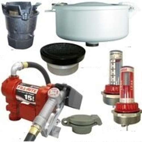 15 GPM Pump & Gas Vent Kit For 550 Gal. x 48 in. Double Wall Skid Tank w/ E-Vents