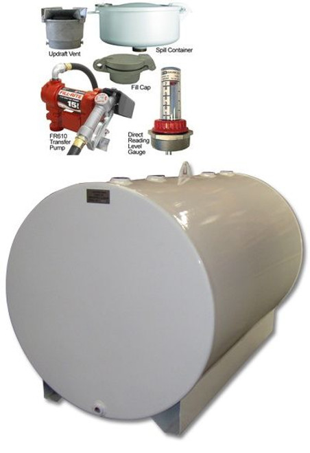 550 Gallon Single Wall Farm Tank with 15 GPM Pump and Vent Kit