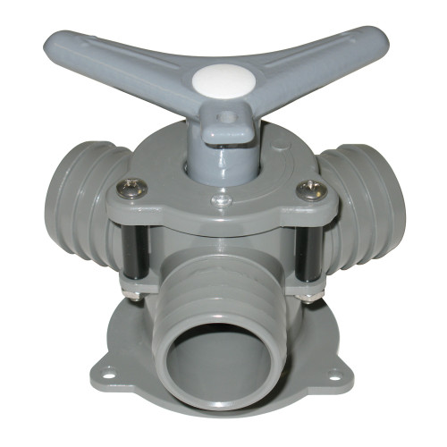 Bosworth Sea-lect® YV-095D-B 1 1/2 in. Barbed Easy-Turning Base Mount Y-Valve w/ Acetal Handle