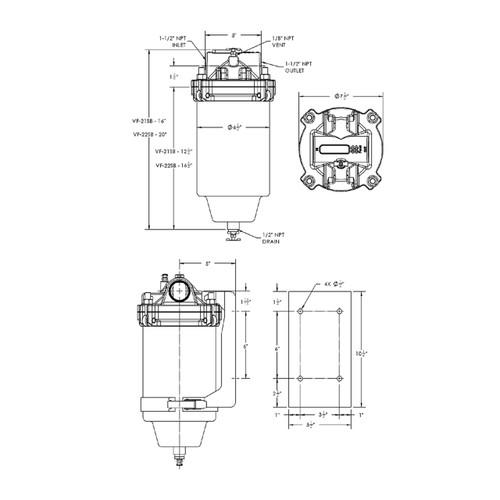 Facet Fuel-Gard VF-21SB Coalescer (Air/Gas) Separator