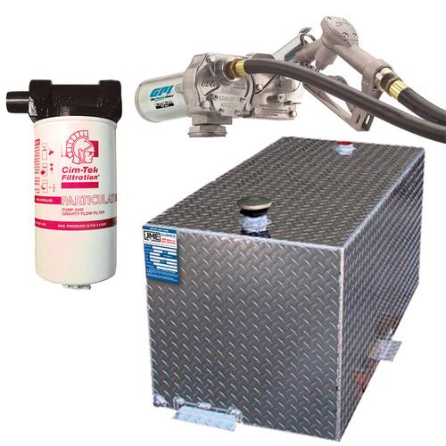 DOT Certified 110 Gallon Transfer Tank w/ GPI 12V DC Pump 15 GPM & FREE Filter Kit