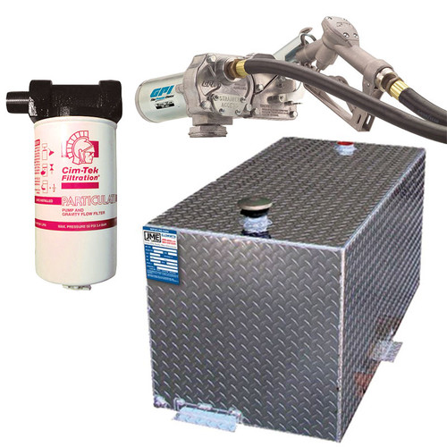 DOT Certified 110 Gallon Transfer Tank w/ GPI 12V DC Pump 15 GPM & FREE Filter Kit