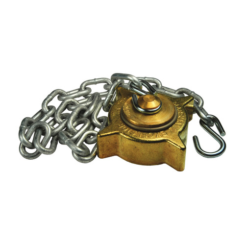 Dixon 2 1/4 in. Female Acme Cap w/ Knob Plug & Chain