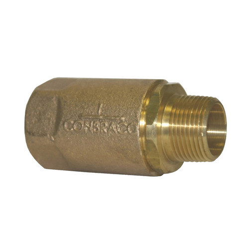 Dixon Brass Domestic Ball Cone Check Valve - MNPT x FNPT
