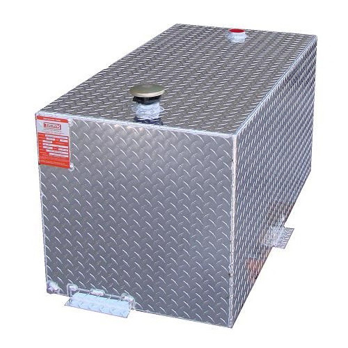 98 Gallon DOT Aluminum Double Wall Rectangular Transfer Tank