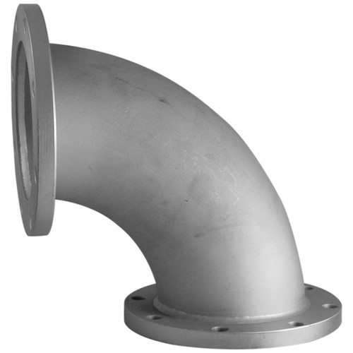 4 in. Stainless Steel 90° Elbow w/ Fixed TTMA Flanges