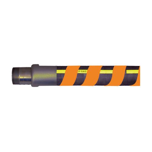 F & R Manufacturing 2 1/2 in. High Density Polyethylene Spiral Hose Wrap - Orange