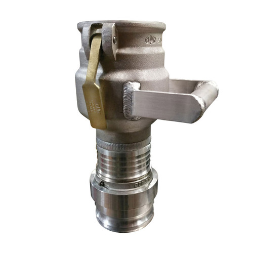 Civacon 633CPP Vapor Recovery Coupler w/ Straight Swivel Male Camlock Inlet & Handle
