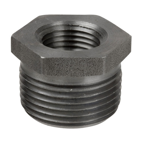 Smith Cooper 1 in. Black Merchant Steel Hex Bushing