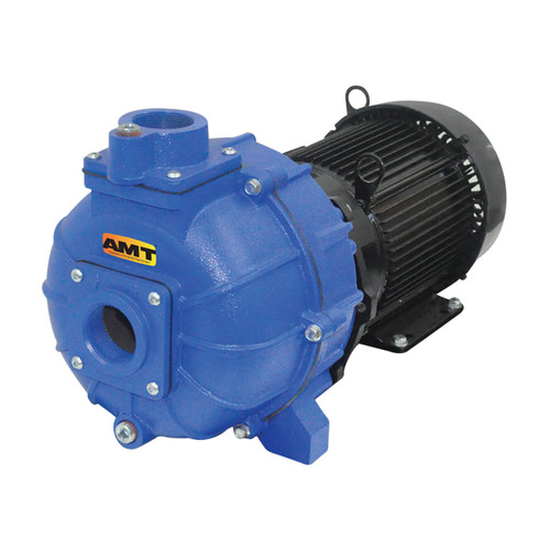 AMT 2 in. Cast Iron Self-Priming High Pressure Pump, 10 HP Three Phase Motor