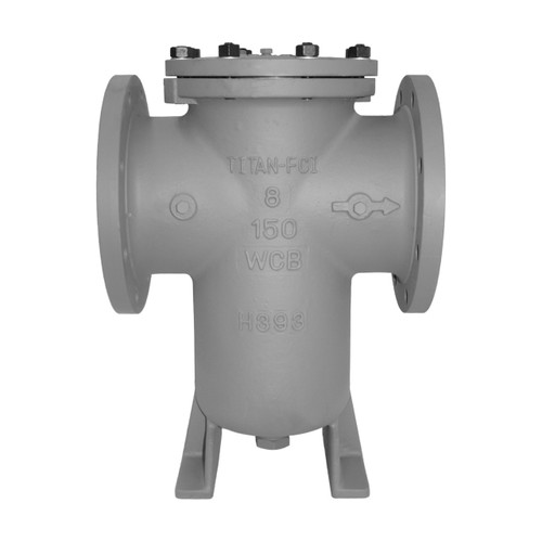 Titan Flow Control BS 85-CS Flanged (Raised Face) Carbon Steel Simplex Basket Strainer w/ Bolted Cover - ASME Class 150
