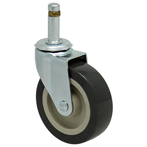 Durable Superior 3 in. x 13/16 in. Light Duty Swivel Caster, Gray Poly -Pro™, Grip Stem